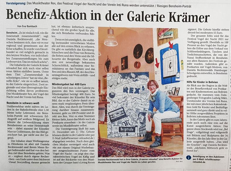 """Daniela Recktenwald in ihrer Galerie """"Krämer reloaded""""."""