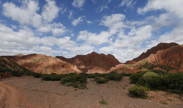 Sandsteinberge bei Tupiza im Hochland von Bolivien.